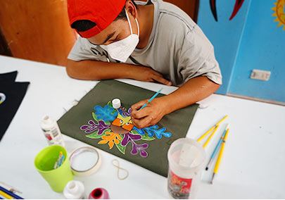 pintando bolsas